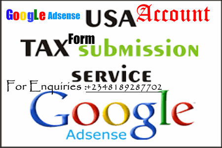 How To Submit Tax Info For USA Google Adsense Account(2021 Working Method).