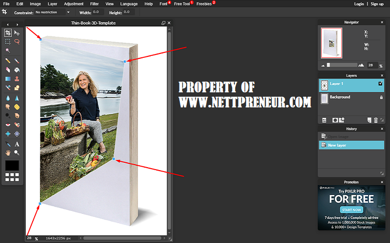 how to create a free 3d ebook cover image nettpreneur