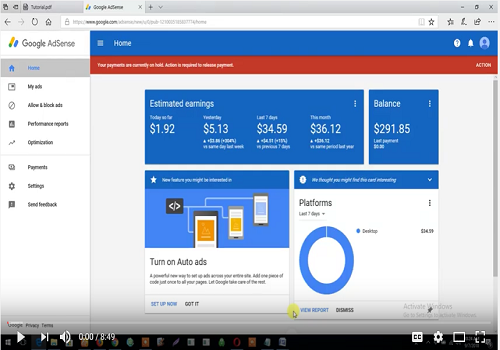 How To Submit W9 Tax Info For USA Google Adsense Verification Video TUTORIAL