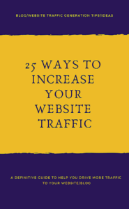 25 ways to increase website traffic