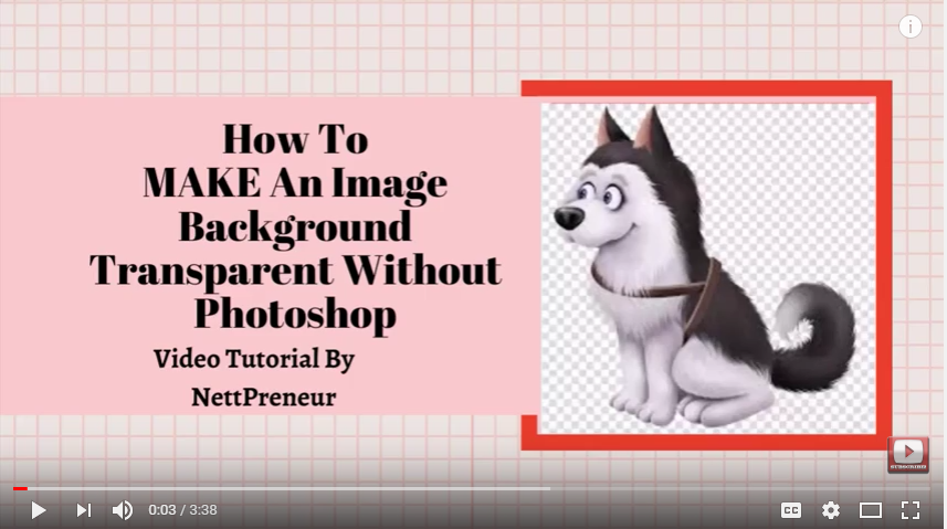 How To Make An IMAGE Background Transparent Without Using Photoshop (Video Tutorial)