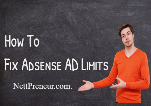 How To Fix AD Serving Limits On Your Adsense Account(Working Method).